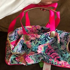 Lilly Pulitzer packable weekend bag